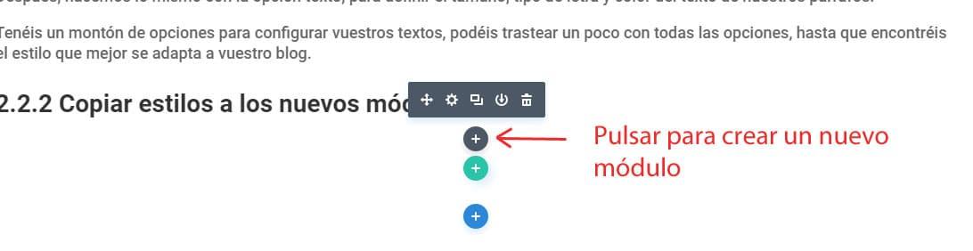 copiar estilos de los modulos de texto divi